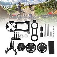 自転車ハンドルバー エクステンダー マウント、アルミ合金バイク コンピュータ ブラケット 耐久性があり、旅行のための家庭用に強力で耐久性があります。(black)