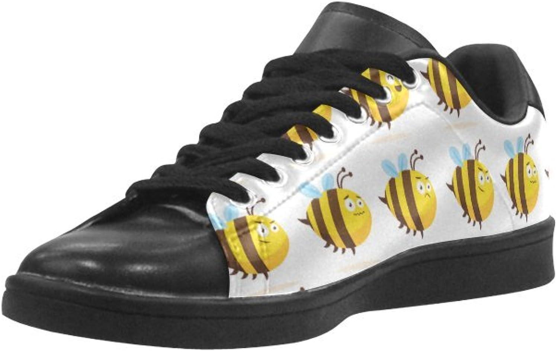 HUANGAISY HUANGAISY HUANGAISY Sneeaker Fet Honey Beehive Mönster Mikrofiber Män's Sneeaker  mer ordning