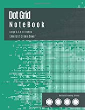Notebook Grid 8.5 X 11: Bullet Dot Grid Notebook - Dot Matrix Journal Large (Emerald Green Cover) -  Dotted Graph Notebooks (8.5 x 11 inches), A4 100 ... - Graphing Pad, Engineer Drawing & Sketching.