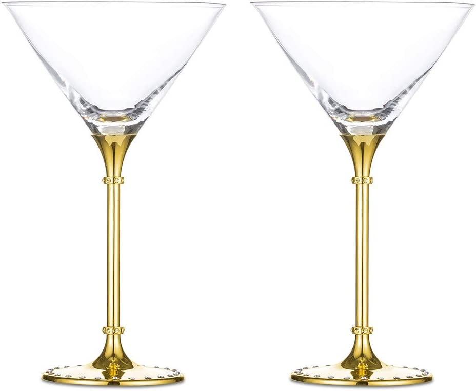 Exquisite Martini Margarita Cocktail Glasses Latest item Polycarb of 2 Set OFFicial mail order -