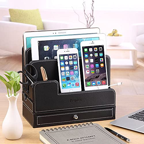 Executive Faux Leather Charging Station for Multiple Products