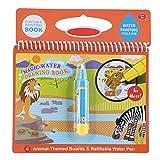 Tnfeeon Kids Magic Drawing Book, Wiederverwendbare Wasser Zeichenmatte Entwicklungsgeschenk Farbe mit Wasser Buch pädagogisches Spielzeug(#2) -