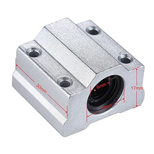 IJeilo SCS8UU 8mm Lineaire Motion Ball Bearing Block CNC Router Slide Unit Reprap 3D Printer DIY Kit Onderdelen Accessoires 3D-printers, als reserveonderdelen verbruiksartikelen