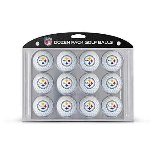Team Golf 32403 NFL Pittsburgh Steelers Dozen Regulation Size Golf Balls, 12 Pack, Full Color Durable Team Imprint