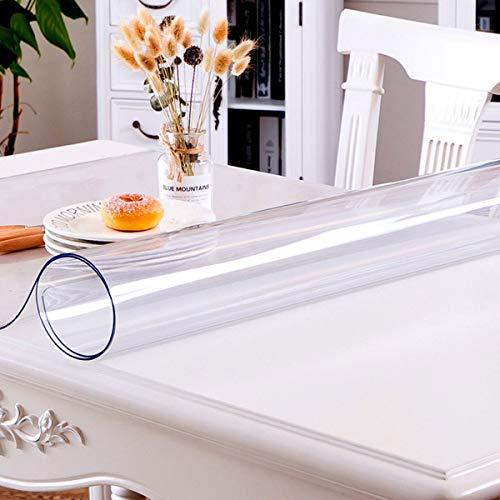 Doorzichtige plastic transparante tafelkleedbeschermer 1,5 mm dikke rechthoek vinyl plastic tafelkleed bureau pad Antislip bureau mat tafelkleden, voor keuken eetkamer,100X200CM/39X79Inch
