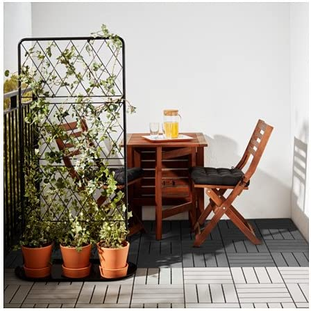 ikea outdoor deck and patio interlocking flooring tiles brown stained 902 342 26