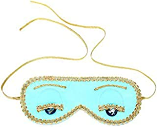 Utopiat Audrey Style Turquoise Blue Sleep Mask Inspired By Breakfast at Tiffanys