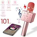 Upworld Karaoke Microphone Wireless with Speaker/Record Function, Handheld portable Bluetooth Microphone for Kids