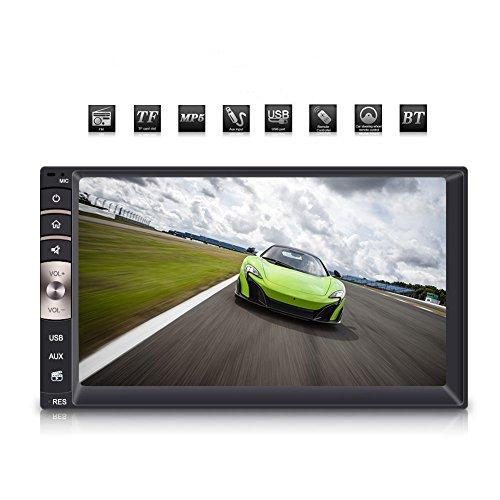 """Qiilu Autoradio, 7 \"""" 2Din Touch Screen MP5 Spieler HD Bluetooth Stereo FM Multimedia USB / AUX Radio Dashboard"""