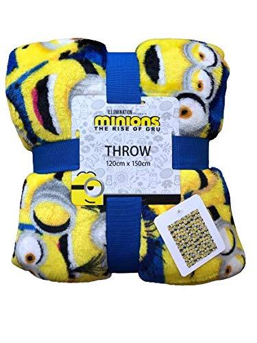 Primark Home - Superweiche Fleece-Decke mit Minions-Lizenz, offizielles Lizenzprodukt, Gru, Einfach unverbesserlich, 120 x 150 cm.