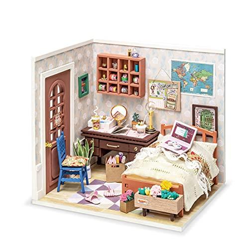 Rolife DIY Miniatur Haus Puppenhaus Kit HolzHaus Modell für Mädchen und Jungen Kinder 14+ Jahre Miniaturhaus Zum Selber Bauen Alt Wundervolles Leben, Anne\'s Bedroom