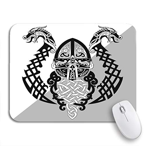 Adowyee Gaming Mouse Pad Odin Wotan Old Norse and Germanic Mythology God 9.5'x7.9' Nonslip Rubber Backing Computer Mousepad for Notebooks Mouse Mats