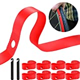 8 Pieces Rim Strip Bicycle Rim Tape Bike Inner Tube Bike High Pressure Tire Proof with 2 Packs Bicycle Tire Lever Fits Size 26 Inch or 700C (Fits 26 Inch)