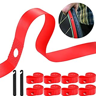 8 Pieces Rim Strip Bicycle Rim Tape Bike Inner Tube Bike High Pressure Tire Proof with 2 Packs Bicycle Tire Lever Fits Size 26 Inch or 700C (Fits 26 Inch) (B07T47Z2DQ) | Amazon price tracker / tracking, Amazon price history charts, Amazon price watches, Amazon price drop alerts