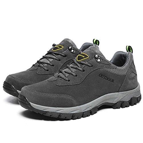 gracosy Sportschuhe, Trekking-Schuhe Unisex Wanderschuhe Halbschuhe Laufschuhe Sneaker Traillaufschuhe Bequeme Turnschuhe für Herren Damen Grau 39
