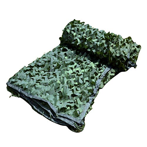 QIANGDA Camouflage Net Camo Netting Army Military Car Covering Tent Hunting Blinds Fishing Shelter Camping Hide Customizable Size Size 15x25m