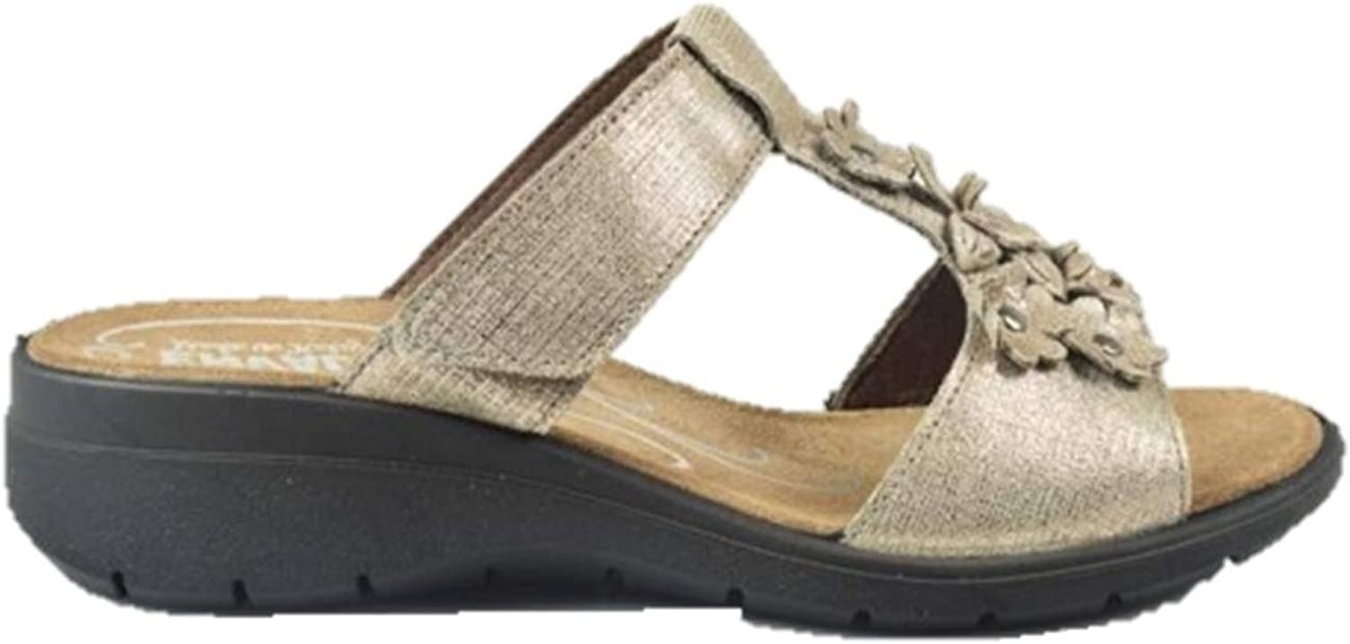 ENVAL SOFT 3282788 unsheathed Wedge Woman Sandal in Leather Made in