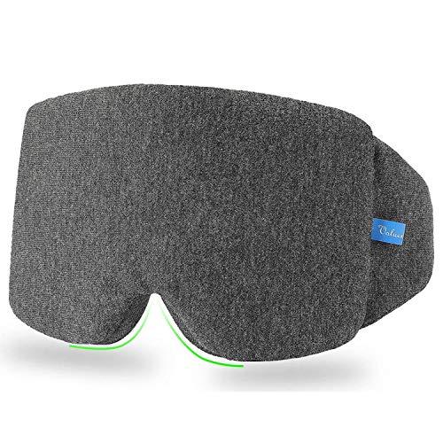VOLUEX Schlafmaske, verstellbare Schlafmaske aus weicher Baumwolle mit Nasenpad, atmungsaktive Augenklappe verhindert Licht, bequem für Reisen/Nickerchen/Nachtschlaf