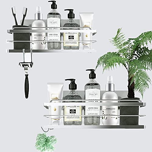 Toloryon Estantes Cesta para Ducha Baño, Estanteria Ducha Adhesivos Organizador,Estante Ducha Baño (2 Pack)