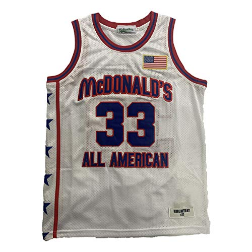 Men's McDonald's All American 33 Bryant Basketball Jersey Stitched White Size XL