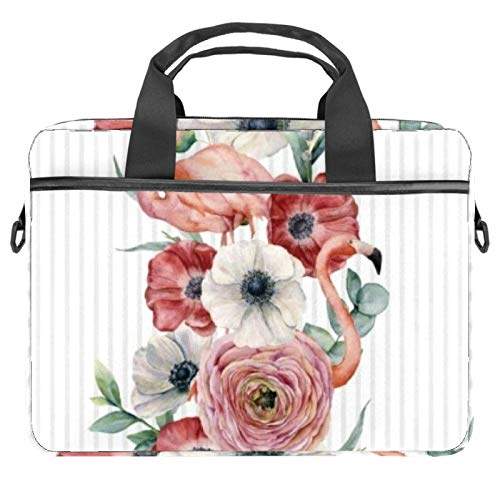Laptop Tote Bag Computer Rucksack Compatible with Chromebook, MacBook Pro Flamingo Rose