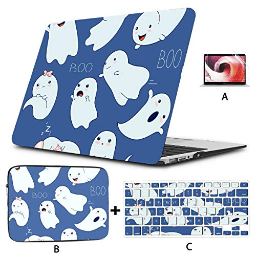 New Macbook Air Case Cool Halloween Creep Fun Ghost 13inch Macbook Air Case Hard Shell Mac Air 11'/13' Pro 13'/15'/16' With Notebook Sleeve Bag For Macbook 2008-2020 Version
