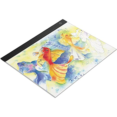 Ajcoflt LED A3 Light Panel Grafiktablett Light Pad Digitales Tablet Copyboard mit 3-stufiger Kopieren und Anzeigen von Diamantmalerbedarf dimmbarer Helligkeit zum Nachzeichnen