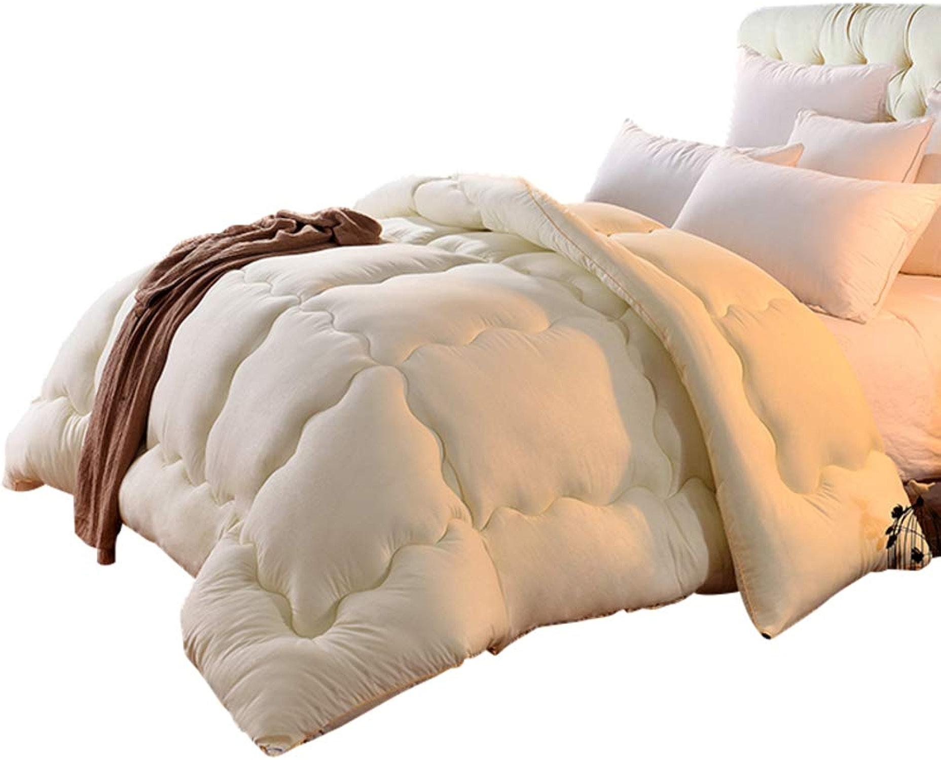 KELE Chaleureuse Confortable Quilts, épaissir Couette légère Humidité Respirabilité Peluche Molle AjusteHommest Confortable Hypo-allergénique Double couettes-A 200x230cm