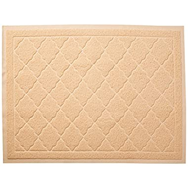 Easyology Extra Large 35  x 23  Cat Litter Mat, Traps Messes, Easy Clean, Durable, Non Toxic - BEIGE