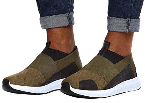 LEIF NELSON Herren Schuhe Freizeitschuhe Elegant Winter Sommer Freizeit Schuhe Männer Sneakers Sportschuhe Laufschuhe EU 42 Khaki