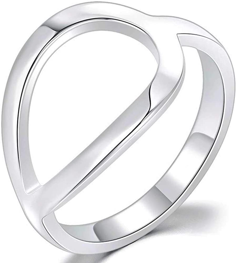Jude Jewelers Stainless Steel Open Karma Statement Promise Ring