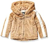 Steve Madden Girls Girls' Big Fashion Outerwear Jacket (More Styles Available), Faux Fur Oatmeal, 10/12