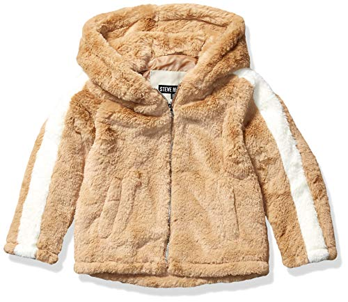 Steve Madden Girls Girls' Big Fashion Outerwear Jacket (More Styles Available), Faux Fur Oatmeal, 14/16