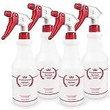 Uineko Plastic Spray Bottle (4 Pack, 24 Oz, All-Purpose) Heavy Duty...