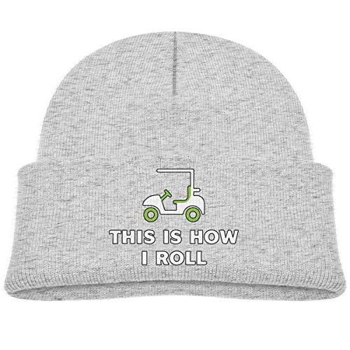Quintion Robeson CDHL99 Voici Comment Je Roule Funny Golf Cart Garçons Filles Bonnets tricotés Casquettes Enfants Chapeaux de crâne Chaud
