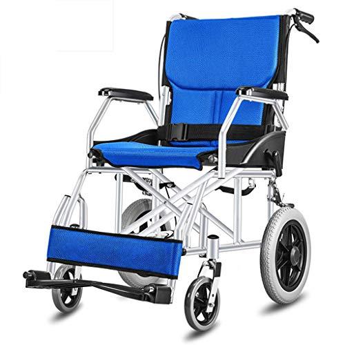 WRJY Rollstuhl Light-Duty Travel Kleine Rollstühle, ältere Menschen mit Behinderungen schieben den Roller, ältere Rollstühle faltbar, geeignet für Behinderte und ältere Menschen, b
