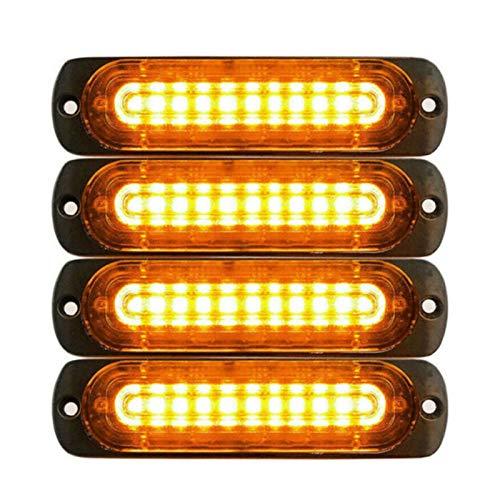 SHP Shping Foglight Emergency Lights 10 LED Beacon Amarillo 12V 24V con protección contra protección