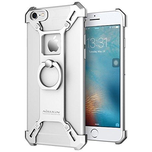 Nillkin Barde Custodia in Metallo con Anello per Apple iPhone 6, Argento