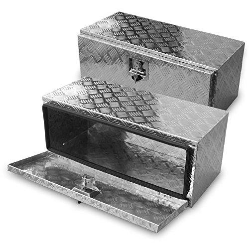FT-Germany 70l Alu Unterbaubox für PKW Anhänger oder LKW Nutzfahrzeuge, Staubox, Werkzeugkiste, Gurtkiste, Alukiste, Kiste