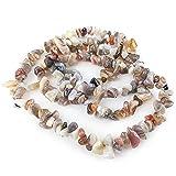 Charming Beads Agata del Botswana Perline Marrone/Grigio Chips 5-8mm Lungo Fili di 240+