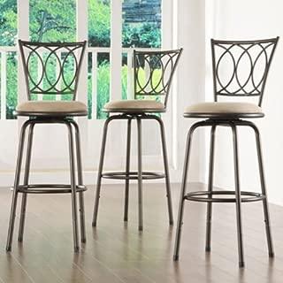 frankfort adjustable swivel bar stool