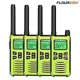 FLOUREON 4 Packs Walkie Talkie Rechargeable Two Way Radios 22 Channel 3000M