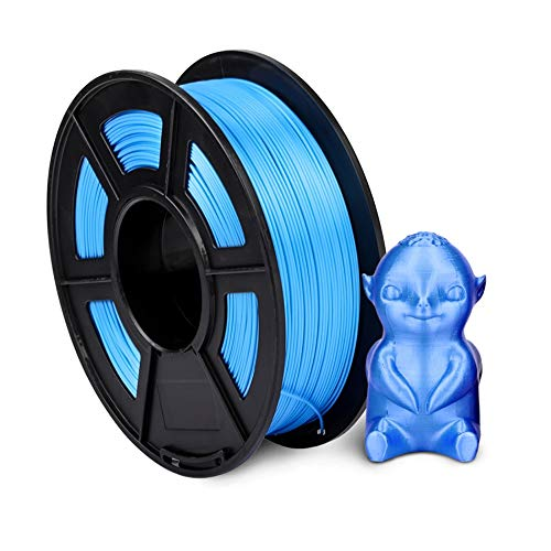 TongGuo 1.75mm PLA SILK Rainbow 3D printer Filament tangle free 100% no bubble with Vacuum bag packing Tolerance +/-0.02mm (Color : SILK BL 1KG)