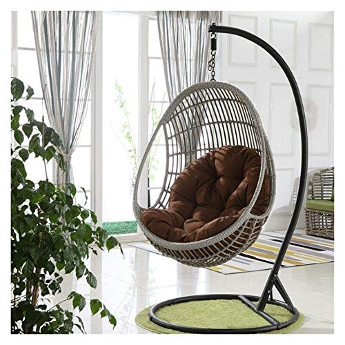 DYYD Egg Chair Cushion Swing Hanging Chair Seat Cushion Hanging Egg Hammock Chair Pads Waterproof Thicken Nest Hanging Chair Back for Patio Garden (Color : F)