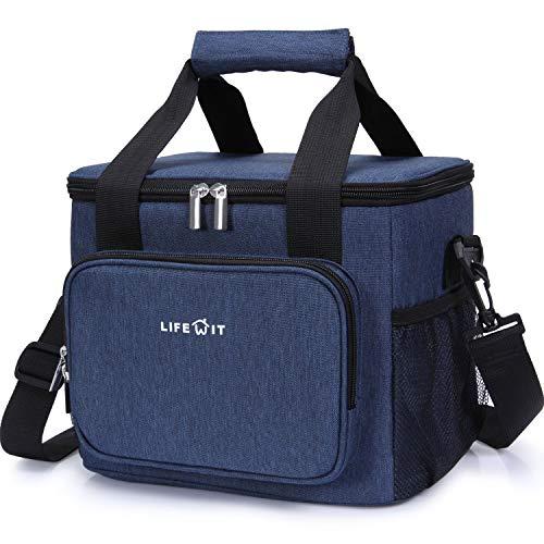 Lifewit 15L Borsa Termica Manutenzione di Freddo e Caldo per Uomo/Donna/Bambino Porta Pranzo Cibo Alimentazione Lunch Box per Campeggio Lavoro Scuola (Blu)