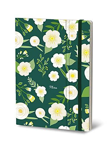 Stifflexible 155S - Cuaderno de notas (9 x 14 cm, 144 páginas), diseño de flor