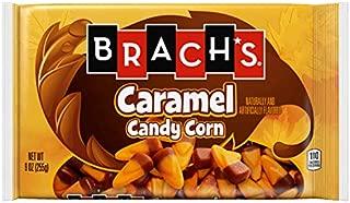Brach's (1) bag Caramel Candy Corn - Pale Orange & Brown Candy Pieces - Halloween/Fall Candy - Net Wt. 8 oz