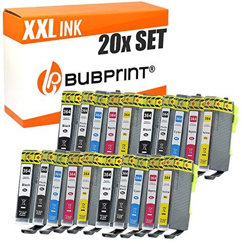 20 Bubprint Druckerpatronen kompatibel für HP 364XL für DeskJet D5460 PhotoSmart 7510 7520 e-All-in-One B8550 C5324 C5380 C6324 C6380 Premium C309g C310a C410 C410b Fax C309a