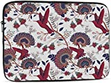 Cute Cartoon Mexican Taco Laptop Sleeve Bag Compatible con 10-17 Inch Classic Computer Bag Laptop Case-Colorful Floral with Red Birds , 13inch