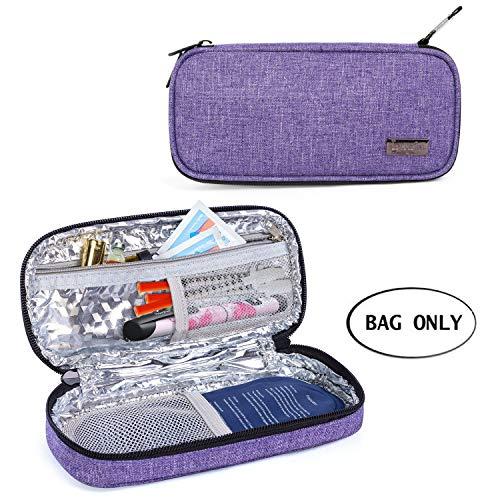 Luxja Insulin Kühltasche für Unterwegs, Insulintasche für Insulinpen und Diabetiker Zubehör (Nur Tasche), Lila